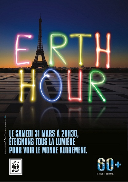 affiche earth hour 2012