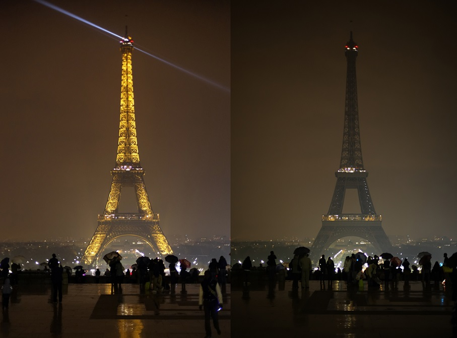earth hour tour eiffel