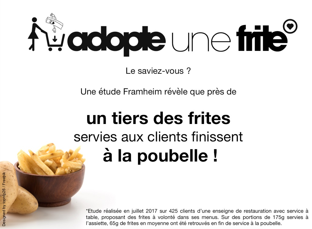 adopte une frite gaspillage